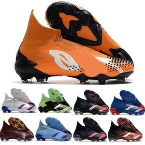 Predator Predator 20+ FG Children Youth Boys Mens Football cleats Boots ART Unity in Diversity soccer shoes Core Black Burgundy