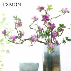 90cm artificial azalea magnolia flower foaming branch soft shape decorative flower azalea long stem fake decoration