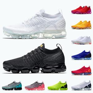 أعلى جودة 2020 يطير حك زائد النساء الرجال الاحذية الأبيض من الأسود الهواءبخارNike Air Vapormax Fly Knite ايرماكس فولت الأحمر أوربت رجل مدرب الرياضة أحذية رياضية