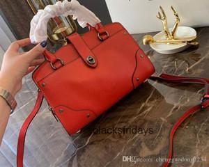 The New Skin Portable Oblique Cross Locomotive Package Genuine Leather Handbag Shoulder Bags For Women Purses Tote