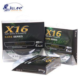 LURE BRAND 100 MT 20-155LB PE intrecciato 16 supporti multifilamento Forte carpa Pesca Pesca Sale acqua Pesca 201124