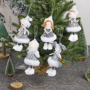 Regalo di Natale Angel Doll peluche angolo del pupazzo di neve bambole sospensione Merry Xmas ornamenti Bambini Capodanno