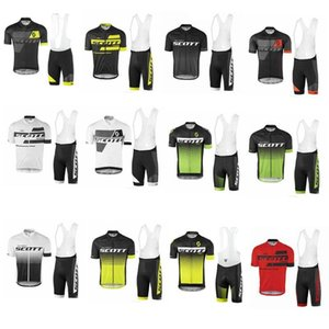 New Men Scott Cycling Jersey Cycling Clothes Set Maillot Ciclismo Short Sleeve Ktm Ropa Ciclismo Mtb Cycling Shirt +Bib Shorts D1003