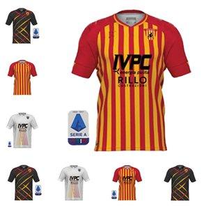 2021 Benevento Soccer Jerseys Caldirola. I.Falque club ionita portiere di casa lontano da casa Improta glik calcio camicie per adulti a manica corta
