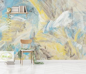 Bacal Panneau abstrakte blaue Murales 3D Foto Tapete Hand Ölgemälde Home Wanddekor Modernes Wandbild Leinwand 3D Papel de Pared1