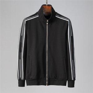Новые красочные плещецы мужчины повседневная молния набор осенний трексуит набор мужская толстовка карманные моды куртки мужчин спортивные наборы мужские W18