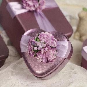 10Pcs Tinplate Favor Box Gifts Metal Candy Chocolates Boxes for Wedding Party Favors Decoration and Birthdays Christmas Gifts