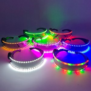 2020 New Fashion LED Flashing Light up DJ Bar Night Party Costume Glasses Dance Show Lighting Props