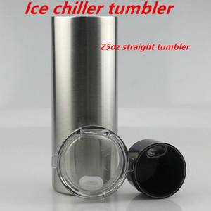 Ice chiller copo 25 onças Hetero vácuo Tumbler aço inoxidável Tumbler Duplas cerveja caneca frete grátis