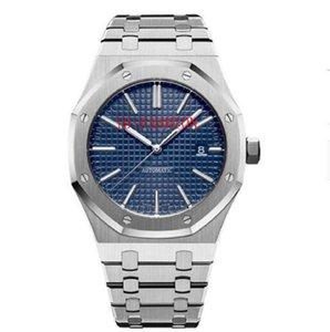 Mens automático relógios mecânicos estilo clássico 42mm costa de aço inoxidável de aço inoxidável de alta qualidade de relógios de pulso de safira super luminosa u1