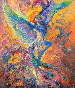 JMINE Div 5D Bird Phoenix Goddess Angel Girl Full Diamond Painting cross stitch kits art Cartoon 3D paint by diamonds