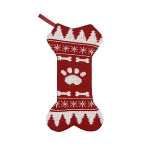Dog Christmas Socks Pet Dog Doggy Shoes Lovely Soft Warm Knitted Socks Clothes Cartoon Stripe Small Sock