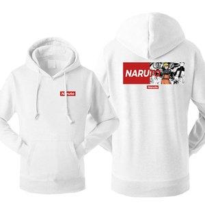Uzumaki Naruto Men's Japan Anime Hoodies Sweatshirt Couple Tracksuit Fleece Hooded Streetwear Sportswear Winter Warm Pullover