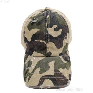 At kuyruğu beyzbol kamuflaj tasarımları şapka kadın leoprad baskı örgü nefes şapka kadın yetişkin topu kapaklar owc3594