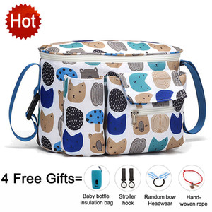 SeckinDogan Baby Stroller Bag Large Capacity Diaper Bags Outdoor Travel Hanging Carriage Mommy Bag Infant Care Organizer LJ200827