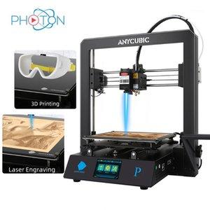 3D принтер Anycubic Mega Pro лазерный гравер и 3D печать 2-в-1 модульный дизайн автоматически выравнивания Impresora Drucker1