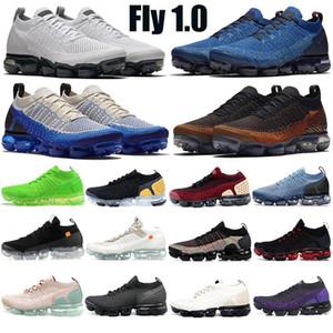 أعلى جودة ذبابة 1.0 حذاء 2.0 سترات حزمة فريق أحمر رجل المرأة الاحذية الثلاثي الأسود رياضة المدربين الرياضية الأزرق
