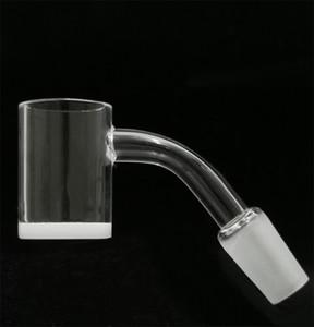 quartz pétards 4590 degrés Quartz Banger 4 mm Blanc Opaque Bas Flat Top 10 mm 14 mm 18 mm Domeless Nails Quartz pour verre Adaptateur Bong Dab