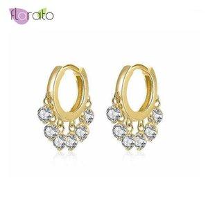 Hoop Huggie Высокое Качество 925 Стерлинговое Серебро Маленькие Серьги Для Женщин Золотой Цвет Мода Ювелирные Изделия 20211