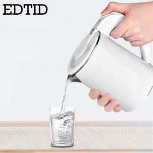EDTID المحمولة السفر غلاية كهربائية MINI ابريق الشاي كأس سخان الفولاذ المقاوم للصدأ 0.6L الماء الساخن السريع التدفئة وعاء الغلاية 220V الاتحاد الأوروبي الولايات المتحدة