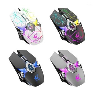 X13 Wireless Charging Game Rechargeable Mouse Mute Luminous Mechanical Mouse Mice for Gaming Lovers Accessories1