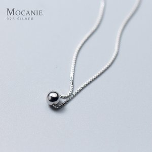Modian Troendy Tiny Simple Bead Chain Cintre Nouveau achat 100% 925 Sterling Silver Bijoux rond pour femmes