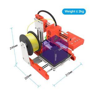EasyThreed 3D Printer 100 * TF Kart PLA Numune ile 100 * 100mm Baskı Mini Masaüstü Çocuklar Boyut Yüksek Hassas Sessiz Baskı