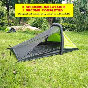 Camping outdoor tent inflatable tent alone automatic popular four seasons larger sealed space ultra light tent hiking