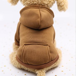 Pet Clothes Winter Hoodie Jeans Pocket two-legged Dogs Cloth Sports Style pet Dog Clothing Pets Supplies DDC4625