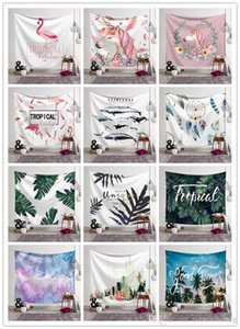 200 Designs 150 * 130CM Tapestry Bohemian Mandala Wandbehang Elephant Strandtuch Schal Yoga-Matte Polyester Tapestry Home Decor Anpassbare