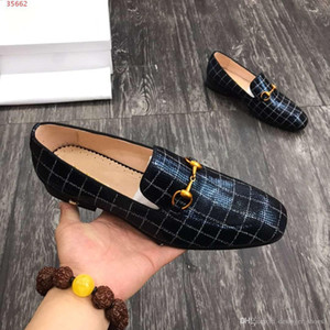 The high quality new international brands classical style Black plaid and print embellished high-heeled wedding dress shoes for men