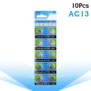 10pcs / Ag13 LR44 357 Knopfbatterien R44 A76 Sr1154 Lr1154 Zellen-Münzen-Alkaline-Batterie 1.55V G13 Für Uhren Spielzeug einpacken Fern sqcDHh