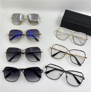 224 new Fashion Design Sunglasses Classic Pilot Frame Top Quality Popular Simple Cheetah style UV 400 protective glasses 224