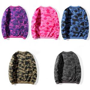 camouflage Pattern Print Sweatshirt Mens Stylist 5 color Pullover Long Sleeve High Quality Men Women Hoodies Size M-2XL
