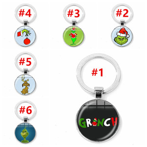 Grinch Keychains Grinch Stole Christmas Key Ring for Women Men Trinket Jewelry Key Holder DHL Free Shipping