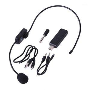 UHF Micrófonos inalámbricos Etapa Inalámbrico Auricular Sistema de micrófono MIC para altavoz Enseñanza Meeting Tour Guide Stage Karaoke1