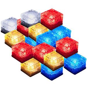 Lâmpada LED Solar 4 LEDs Auto Iluminação LED Thick Night Lâmpada Iluminação Underground Simulação Ice Cube Lite Lite Light Light Light