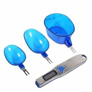 500G / 0.1G Bilancia digitale Scala LCD Scala elettronica Misurazione elettronica Scale da cucchiaio con 3 Spaccatura Spaccatura Spaccatura Spazzole da cucina1