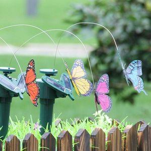 Solar Power Dancing Flying Butterflies Fluttering Vibration Fly Hummingbird Flying Birds Garden Yard Decoration Funny Toys FWF3179
