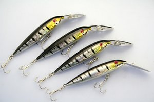 Wholesale Lot 12 Fishing Lures Minnow Fishing Bait Crankbait Tackle Insect Hooks Bass 12.8g 12.5cm