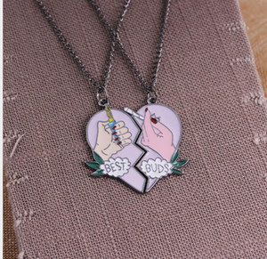 New arrival Hot-selling creative BEST BUDS two-petal love cigarette lighter pendant necklace accessories zj-2147