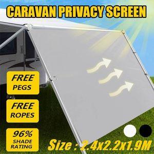 2.4x2.2x1.9m portátil Car Side Toldo Rooftop Tent Sun Shelter Sombra SUV Waterproof Tent Car Side Sun Shelter Kit Acessórios