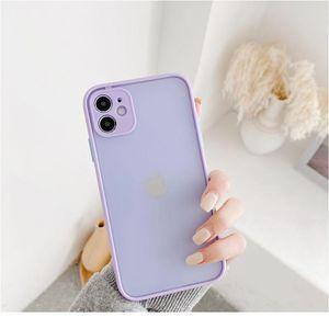 Sile Matte Bumper Phone Case For Iphone 12 11 Pro Xr X Xs Max Mini 6s 6 8 7 Plus Se2 Tra wmtGuD