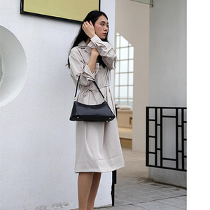 2020 Women's Autumn New Fashion Solid Genuine Leather Half-moon Lady's Shoulder Bags Retro style and Luxury Female Shoulder Handbags Pure