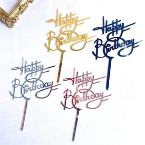 Birthday Cake Topper Hot Cupcake Flag Wedding Party Cake Flag Cake Decoration Tools for Baby Shower