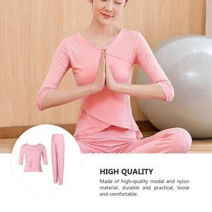 1 Set Lose Yoga Outfits Training Fitness T-Shirt Hosen Halbhülse Kleidung