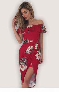 Sexy plus size women clothing Strapless Beach Summer Dress Sundresses Vintage Bohemian Maxi Dress Robe Femme Boho Floral Ruffle off shoulder