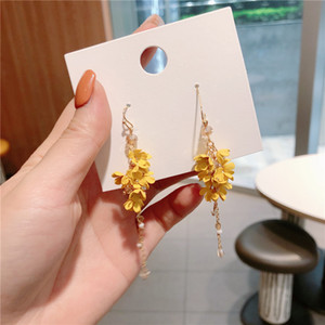 des boucles d'oreilles Korean Fashion Ear Jewelry Spring and Summer Flowers String Earrings designer earrings jewelry women earrings