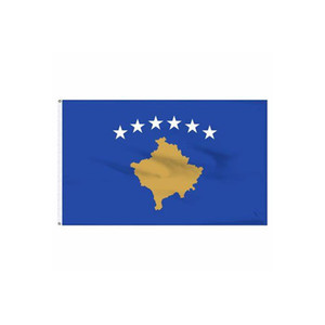 Kosovo Flag Banner 3x5 FT 90x150cm State Flag Festival Party Gift 100D Polyester Indoor Outdoor Printed Hot selling