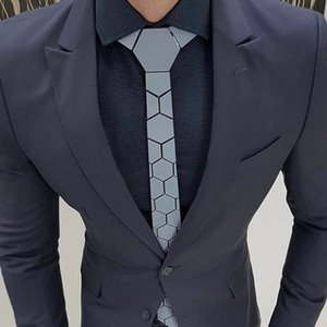 Luxurious Brand Gold Mirror Geometric Hexagonal Men Fashion Ties Gold Necktie Bling Life Time Classic Design Ties For Party Wedding Business